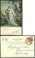 """Deutschland 1902 Postkarte Trompeter Von Säkkingen """"Der Erste Kuss"""" Mit Niederländische Marke - Germany"""