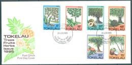TOKELAU - 26.6.1985 - FDC -  TREES FRUITS HERBS  ISSUE - Mi 111-116 Yv 118-123 - Lot 16769 - Tokelau