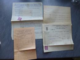 APICULTURE Albertville (73) Mont-Jovet, Miel, Lot De 4 Documents 1926 Dont Factures ; Ref 042VP44 - 1900 – 1949