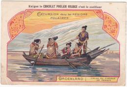 Chromo - Chocolat Poulain Orange - Excursion Dans Les Régions Polaires - Groenland - Umiak Ou Pirogue De Femmes - Poulain