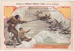 Chromo - Chocolat Poulain Orange - Excursion Dans Les Régions Polaires - Canada - Poulain