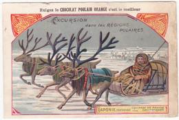 Chromo - Chocolat Poulain Orange - Excursion Dans Les Régions Polaires - Laponie Suédoise - Poulain