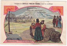 Chromo - Chocolat Poulain Orange - Excursion Dans Les Régions Polaires - Islande - Poulain