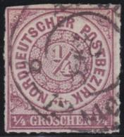 Nord   .     Michel    .    1    .       O     .     Gebraucht - Norddeutscher Postbezirk