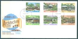 TOKELAU - 7.5.1986 - FDC -  ARCHITECTURE ISSUE - Mi 123-128 Yv 130-135 - Lot 16771 - Tokelau