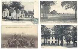 4 CPA Camp De La Valbonne - Soldats, Mitrailleuses, Zouaves, école De Tir  ..  ( S. 2873 ) - France
