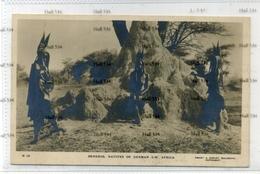 Zimbabwe Rhodesia Hereros Natives Of German South West Africa Namibia Termite Hill 1910 Postcard Smart & Copley Bulawayo - Zimbabwe