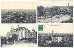 4 CPA Miribel - Villa, Vue Générale, Gare Et Les Usines    ( S. 2877 ) - France