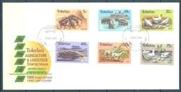 TOKELAU - 3.12.1986 - FDC -  AGRICULTURE AND LIVESTOCK ISSUE - Mi 130-135 Yv 137-142 - Lot 16772 - Tokelau