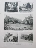 1931 Chaumieres Et Vielles Maisond De Bretagne  TOIT DE CHAUME  HAMEAU DE HAN GOIX   Camors  Pluvigner  Trebeurden - Vieux Papiers