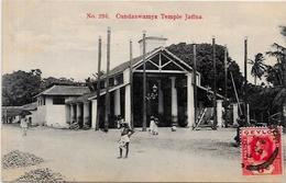 CPA Ceylan Ceylon Sri Lanka Inde Asie Circulé Temple Jaffna - Sri Lanka (Ceilán)