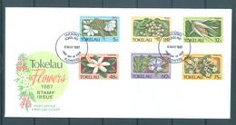 TOKELAU - 6.5.1987 - FDC -  FLOWERS ISSUE - Mi 136-141 Yv 143-148 - Lot 16773 - Tokelau