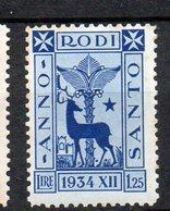 Egeo 1935 Anno Santo N. 97  MLH* Sassone 34 Euro - Egée