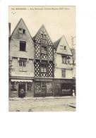 Cpa - 18 - Bourges - Rue Nationale - Magasin PRODUITS D'ESPAGNE Primeurs Comptoir National Vins Liqueurs Grand Café - Bourges