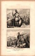 Angleterre - Chef Anglo-saxon En 970 - Soldat Danois En 1035 - Prints & Engravings