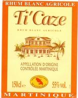 Etiket Etiquette - Rhum - Ti'Caze - Martinique - Rhum