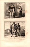 Angleterre - Archevêque (en 950) - Princes Saxons (en 960) - Prints & Engravings