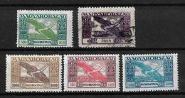 Hungria 1924 Correo Aereo Serie Incompleta Nuevos Y Usados - Aéreo