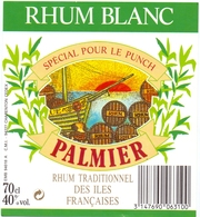 Etiket Etiquette - Rhum Blanc - Palmier - Rhum