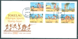 TOKELAU - 2.12.1987 - FDC -  OLYMPIC SPORT  ISSUE - Mi 142-147 Yv 149-154 - Lot 16774 - Tokelau