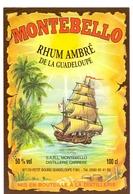 Etiket Etiquette - Rhum Ambré - Montobello - Rhum