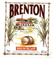 Etiket Etiquette - Rhum Blanc - Brenton - Rhum