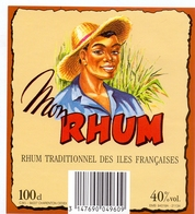 Etiket Etiquette - Rhum - Mon Rhum - Charenton - Rhum