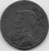 Grande Bretagne - 1/2 Penny - 1794 - 1662-1816 : Anciennes Frappes Fin XVII° - Début XIX° S.