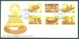 TOKELAU - 7.12.1988 - FDC -  CHRISTMAS  ISSUE - Mi 159-164 Yv 166-171 - Lot 16776 - Tokelau