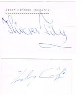 AUTOGRAPHES - JEUX OLYMPIQUES - HONGRIE - KINCSES - JUDO - KOLCZONAY - ESCRIME - Autographs