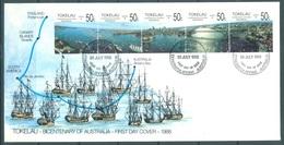 TOKELAU - 30.7.1988 - FDC -  BICENTENARY AUSTRALIA ISSUE - Mi 148-152 Yv 155-159- Lot 16778 - Tokelau