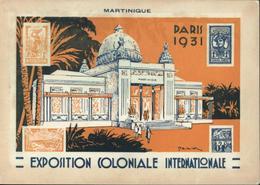 Entier 15c Semeuse Camée Brun Exposition Coloniale De Paris Carte 6 La Martinique Neuve Storch G2F Cote Mini 30 Euros - Standard Postcards & Stamped On Demand (before 1995)