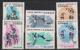 Congo 1965 Premiers Jeux Africains  6v ** Mnh (38840A) - Democratische Republiek Congo (1964-71)