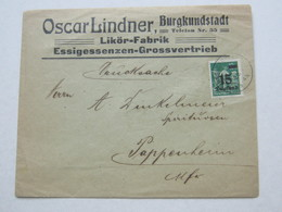 1923 , BURGKUNDSTADT    , Klarer Stempel Auf  Firmenbrief - Briefe U. Dokumente