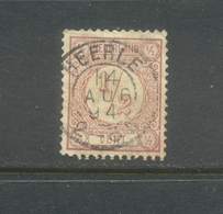 Kleinrond Heerle Op Nvph 30 Bruinrood 1894 - Periode 1852-1890 (Willem III)