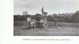 1907 - Iconographie - Pont-Aven (Finistère) - Voiture à Lande Aux Environs - FRANCO DE PORT - Unclassified