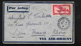 Indochine Lettre Par Avion Air Orient  De Saïgon Le 26/5/1934  à Lyon Via Marseille Le 03/06/1934 PA N°8  B/TB - Indochina (1889-1945)