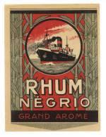 Etiquette De Rhum Grand Arôme  -   Négrio - Rhum