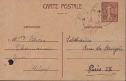 Libération CP Entier 1.20 Chamois Imprimé Après Débarquement Normandie Départements Ouest Tarif CP Rare Janvier 1942 - Postales Tipos Y (antes De 1995)