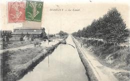 93 BOBIGNY Le Canal Peniche Attelage - Bobigny