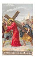 Simon Le Cyrénéen Aide Jésus A Porter Sa Croix - Images Religieuses