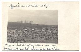 51 MUIZON Offensive Du Chemin Des Dames 16 Avril 1917 - 44e Régiment Infanterie Avant Embarquement Camions Guerre 14 18 - France
