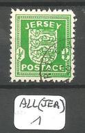 ALL(JER) JERSEY  Mi 1 Ob - Ocupación 1938 – 45