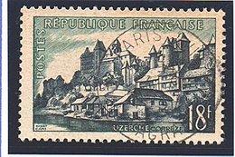 """SITES ET MONUMENTS - 1955: 18F Bleu-noir Et Vert """"Uzerche, Dans Le Limousin""""  N° 1040 Obl - Oblitérés"""