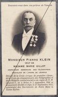Pierre Klein Inspecteur Des Télégraphes Télégraphe  Arlon - Liège Médaille Décoration - Décès