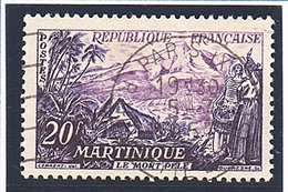 """SITES ET MONUMENTS - 1955: 20F Violet Et Bleu-noir  """"Le Mont Pelé, En Martinique""""  N° 1041 Obl - Oblitérés"""