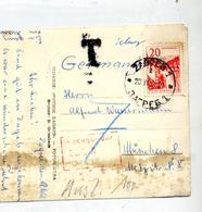 Carte Cachet Zagreb Taxee Nachgebuhr  Vue Centre Avec Tramway - 1945-1992 République Fédérative Populaire De Yougoslavie
