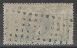 France - YT 33 - 5f Violet-gris Oblitéré Gros Points - 1863-1870 Napoléon III Con Laureles