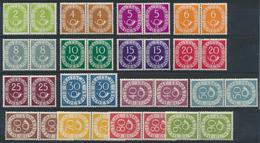 29059 Nachlässe: Kellerfund, Etwas Muffig In 5 Kartons, Dabei Posthorn In Paaren (einige Werte Haftspuren) - Stamps