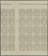 """29700 Frankreich: 1900, BLANC, 1c. Grey, IMPERFORATE Gutter Block Of 30 Stamps With Millesime """"2"""", Unmount - France"""